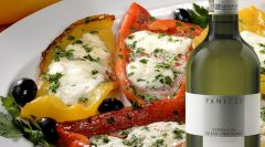 Peppers filled with mozzarella